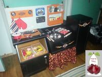 Harley biker themed kitchen for kids 48x16x35 in. tall