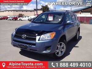 2012 Toyota Rav4 BASE   4WD, power sunroof, alloy wheels, A/C, l
