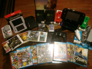 Nintendo Wii U and 3DS bundle with games and accessories