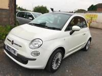 2012 Fiat 500 Three Months Warranty ,12 Months MOT , half leather trim,