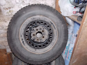 SNOW TIRES WITH RIMS 15 INCH