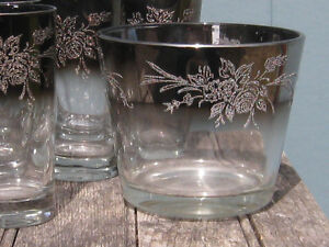 Silver Ombre Etched Ice Bucket Tumblers
