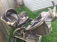 Graco Quattro Tour Duo Double Stroller with  matching car seats