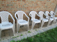 6 (set) Victorian Lattice Patio Chairs
