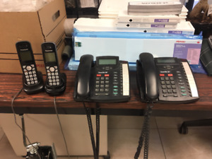 Two Line Astra 9120 Phones and 2 Cordless Panasonic phones