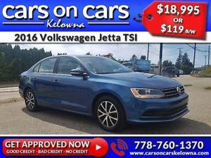 2016 Volkswagen Jetta TSI w/Sunroof, BackUp Cam, BlueTooth $119B