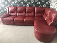 Large Real leather corner sofa.