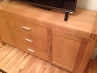 Real Oak cupboard and draws set