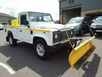 2013 Land Rover Defender 110 Pick up with SNOW PLOUGH and DE-ICING SPRAYER, LOW
