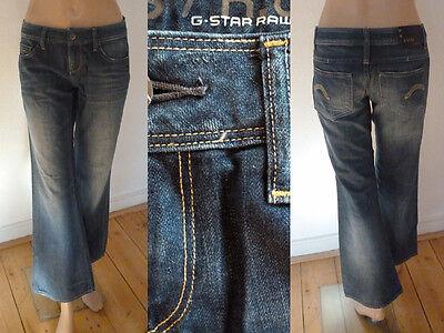 G-Star JeansGirl 5 PocketSchlaghose Knöchellang washedblue denim27 Top