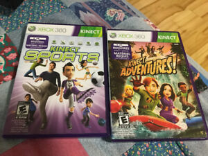2 XBOX 360 Kinect Games