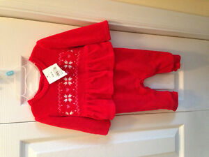Baby girl fleece outfit new with tag