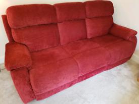 Sofa 3 piece electric recliner