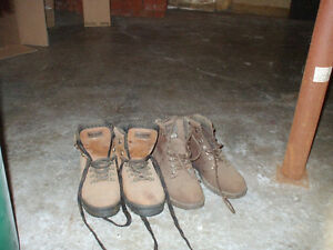 HIKING BOOTS 2 PAIRS FOR SALE,,,SIZE 9