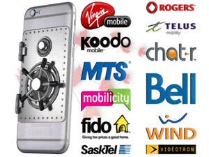 Unlock iPhone from Bell-Videotron-Rogers-Telus-Fido-Koodo-Virgin