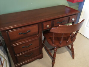 Solid Maple Desk & Chair for Sale!