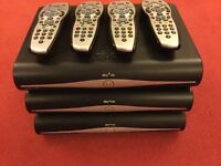3x Sky+ HD boxes and controllers