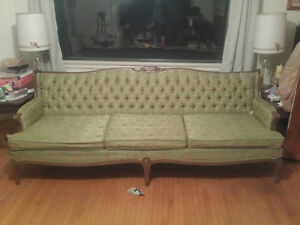 antique couch and chair set