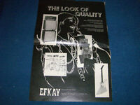 7/1976 EFKAY FULL PAGE ADVERT-MARSHALL-IBANEZ-ROTO SOUND+