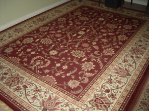 3 Area Rugs. Unmarked. As New. Burgundy.