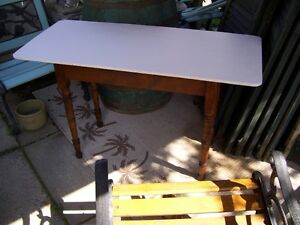 Antique  table with  super white top