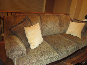 Ashley designed paisley cloth full size couch