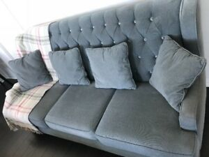 Mint Ashleys Sofa Set with 4 original Cushions & Free Ottoman
