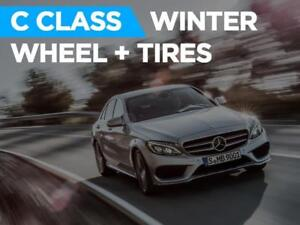 Mercedes Benz C CLASS C300 C43 AMG WINTER TIRE + WHEEL Package 2018 - 2019