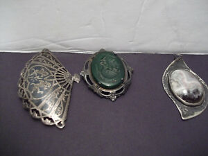 3 ITEMS = 2 BROOCHES & 1 PENDANT - Old