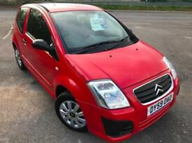 CITROEN C2 1.4 VTR £18 WEEK NO DEPOSIT GREAT 1ST CAR CD 50K MILES FSH 3DR 2009