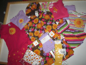 Girls CLothing Lot #10 - GYMBROEE sunflowers, size 7-8