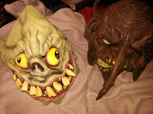 Goblin and Wood Troll mask