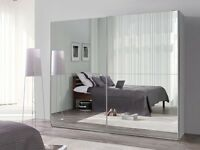 **7-DAY MONEY BACK GUARANTEE!** Luxury Sliding Door German Wardrobe - BRAND NEW! RRP£799
