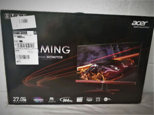 "27"" 144Hz Acer 2K Freesync Monitor 1ms Response Time (NewSealed)"