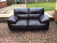 Large two seater leather sofa free local delivery!