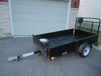 4 x 8 Utility Trailer with Landscape Gate