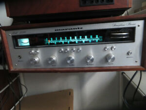 Vintage 1970's Stereo System with Many Tape Cassettes