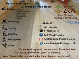 Installing Laminate, Parquet, Solid wood, Engineering floors, Sanding, Polishing, varnish, lacquer