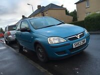 Vauxhall corsa C spares or repairs mot failure fixer upper project cheap track car nice wee runner