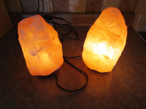 HIMALAYAN SALT LAMP TWO OF THEM.