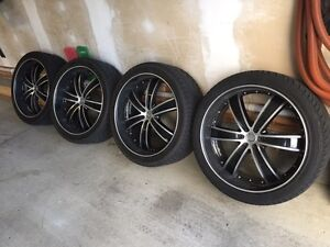 """24"""" velocity rims and tires"""