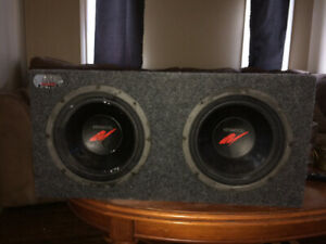 Kenwood subs and Bass Slammer sub box