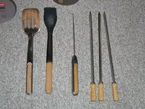 OXO stainless steel/wood BBQ utensils