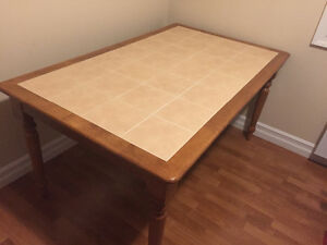 Kitchen Table - Wood with Ceramic Top
