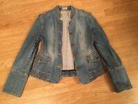 Karen Millen denim military jacket size 14