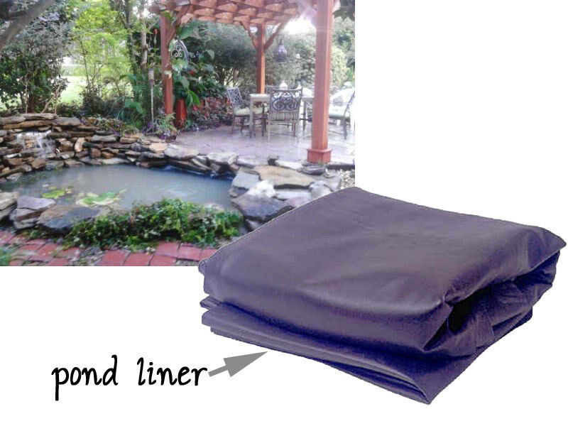 How to make a small water garden or fish pond ebay for Garden pond liners uk