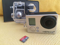 GoPro Hero 3+ Silver w/ Accessories - Exc. Condition