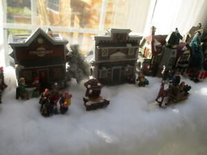 An entire Christmas  Village