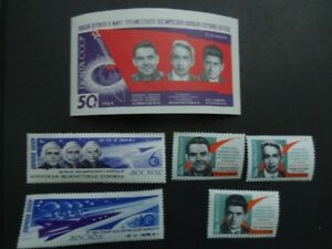 11964-RUSSIA-3 Men Space Flight Souvenir Sheet With Stamps.