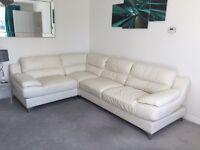 White (off white) 4 seater Corner Couch/Sofa